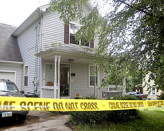 MADELYN P. HASTINGS | THE VINDICATOR  47 7th Street in Campbell where a 5 victim shooting and fire occurred on Saturday, July 20.
