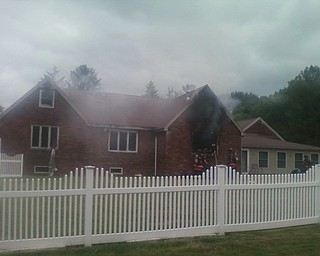 A fire is in progress at 7855 Lee Run Road in Poland