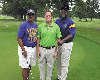 SPECIAL TO THE VINDICATOR From left are Dan Smith, Christopher Carfangia and David Davis, who are preparing for the Jamail E. Johnson Memorial Scholarship Golf Tournament set for Saturday at Pine Lakes Golf Club.
