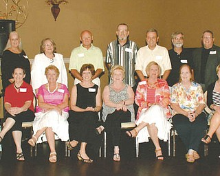 SPECIAL TO THE VINDICATOR The McDonald High School Class of 1963 50th reunion recently took place at the Fifth Season Banquet Hall in Mineral Ridge. Members seated, from left, are Rosemary Stibinger Kucynski, Carolyn Cox Burger, Susan Reese Gano, Wanda Martin Simon, Polly Krupko Walgren, Jackie O'Brien Ferrara, Carol Zajac Hapcic, Kathy White Smith, Janice Kenneally Courtney, Judy Dumont Bagheri and Marilyn Hampton Meyerholt; standing are Karen Mackey Loibl, Cathy Patterson Pavolillo, Mildred Antolini, Rolly Ryan, Mike Colburn, Jack Wyko, Frank Sudol, Tom Davis and Phil Courtney.