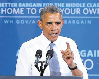 President Barack Obama speaks about housing Tuesday in Phoenix. Obama said he supports a bipartisan effort in the Senate to reform the Fannie Mae and Freddie Mac government-controlled mortgage guarantee giants.