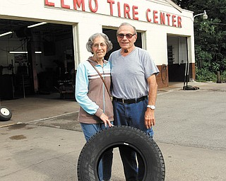"Jo-Ann and Anthony ""Sonny"" Elmo recently retired from Elmo Tire Center after working for several decades at the Loveland Road business. In 1956, Sonny purchased the shop from his father, and Jo-Ann became the company's bookkeeper."