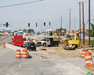 The Interstate 680 northbound entrance ramp from U.S. Route 224 westbound is under construction.