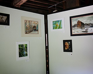 MADELYN P. HASTINGS | THE VINDICATOR..About 25 people of all ages participated in the LantermanÕs Mill art show which ran Friday-Sunday on the second floor of the mill. Artwork included photographs, paintings, and drawings.... - -30-..