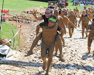 Steve and Cheryl Soyka finished the Warrior Dash Obstacle Course Aug. 11 for St. Jude Children's Hospital.