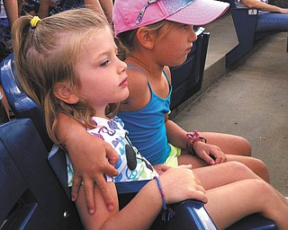 Elisabeth and Madeline Facemyer of Canfield enjoyed a Mahoning Valley Scrappers Game. Sent in by Dr. Gregory Facemyer.