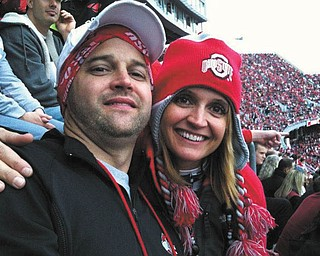 Brother and sister, Candace and Chip Gaetano of Campbell enjoyed an Ohio State University game.
