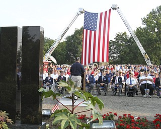 William D. Lewis The Vindicator  Hundreds attended a  9-11 ceremony in Austintown Wed.
