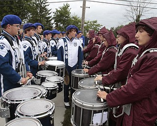 .          ROBERT  K. YOSAY | THE VINDICATOR..Battle of the Percussions .Boardman Spartans at Poland Bulldogs Stadium