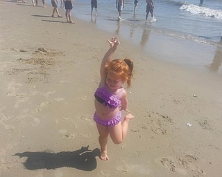 Bailey Orr of Hubbard is pictured enjoying the beach in Virginia.