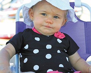 Nina Armeni, daughter of John and Amanda Armeni of Girard, contemplates her day on the beach at Bethany Beach, Del. Taken by Aunt Joyce Buzzacco.