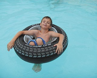 Christian Burns, son of Jeff and Marion Burns of North Lima, enjoys a relaxing swim at his Aunt Linda and Uncle Randy Estes' home in Poland. Sent by Aunt Laurie Fox of Lowellville.