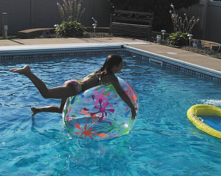"""Sara Ciletti of Howland gives new meaning to """"rollin' on the water."""" Sent by her Aunt, Rose Marsco."""