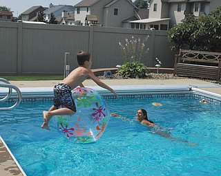 Jacob Buttar of Niles is having fun in his Aunt Ree and RoRo's pool. Sent by Rose Marsco of Niles.