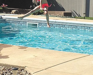 Katie Buttar of Niles took a leap for the plunge.  Sent by her aunt, Rose Marsco.