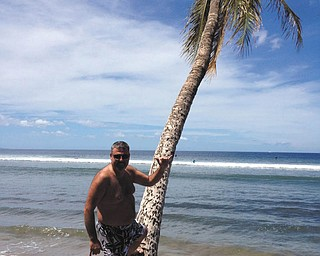 Ray Lukach on the beach in Maui.