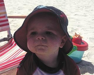 Dominic Fiumara of Poland enjoying the sand? Sent by mom Amy Fiumara.