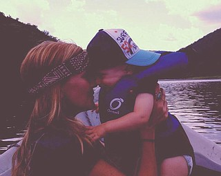Mom Carly and Finnegan having a bonding moment while fishing.