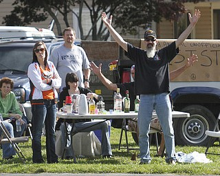 .          ROBERT  K. YOSAY | THE VINDICATOR...John Daltorio and freinds had the first unofficial race rest stop on Kirk Rd. about a 100 yard from the race start.The 39th Annual Peace Race -  with over 2000 runners on a beautiful October day