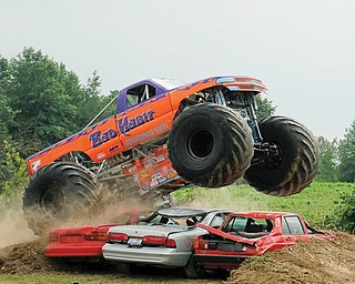 Boardman native Joe Sylvester set a monster truck jumping record with a jump of 237 feet over Labor Day weekend in Columbus, Pa.
