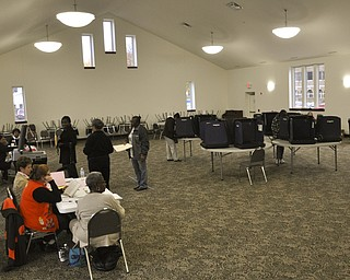 ROBERT K. YOSAY  | THE VINDICATOR..The new St Dominic's  Parish center was used for the first time as a polling place as voting was light across the city..-30-....
