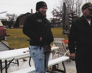 During beard season Lee Griffis says he has been mistaken for a Duck Dynasty cast member or even Zack Brown. He is a 2006 graduate of Poland High School and is a truck mechanic for Lyden Oil. He is pictured here with his dad, Larry. They are involved in a construction project at the lake.