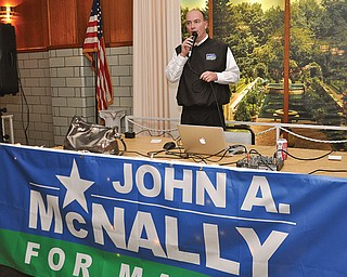 Youngstown Mayor-elect John McNally IV, seen here on election night, takes office Jan. 1.