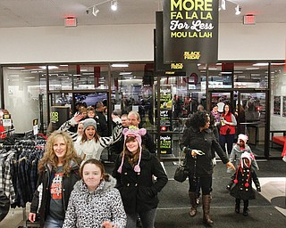 Thanksgiving Day shoppers were in high spirits as they entered J.C. Penney's in Southern Park Mall at 8 p.m. to get a jump on the Christmas shopping season. Several stores in the mall and others on U.S. Route 224 opened on the holiday to kick off what is the busiest retail shopping period of the year.