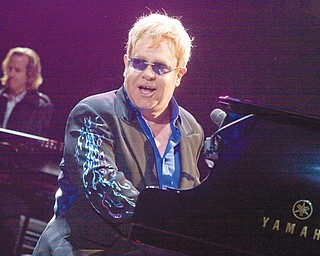 Elton John performs for a sold-out crowd at the Covelli Centre on May 1, 2010.
