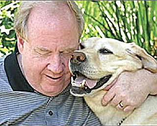 Michael Hingson, who is blind, was evacuated by his guide dog, Roselle, from the 78th floor of the World Trade Center's North Tower on Sept. 11, 2001. Hingson will discuss his escape at 7 p.m. Thursday at the Poland public library, 311 S. Main St.