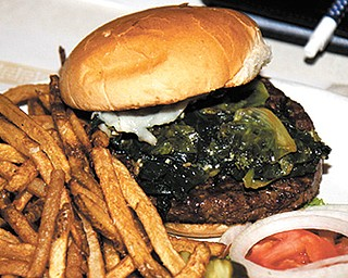 The Green burger at Bogey's Bar and Grill
