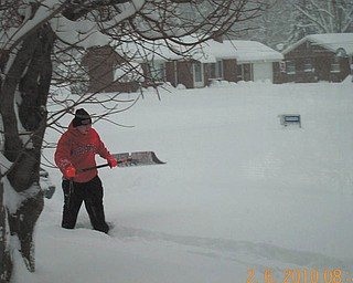 Feb. 6, 2010, Rick Mularchik of Struthers digging out.