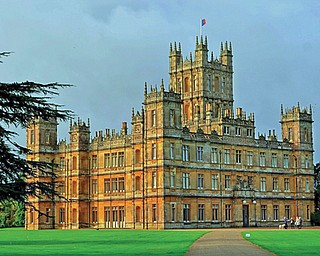 """Highclere Castle, the stand-in for the fi ctional """"Downton Abbey"""" TV series, is about 65 miles southwest of London."""
