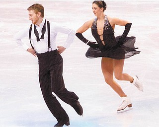 SPECIAL TO THE VINDICATOR Team USA ice dancers Daniel Eaton and Alexandra Aldridge competed in the Four Continents Figure Skating Championship in Taipei, Taiwan, where they won a bronze medal for their Short Dance and Free Dance programs. Aldridge is the granddaughter of Linda and Jack Mihalcak of East Palestine.