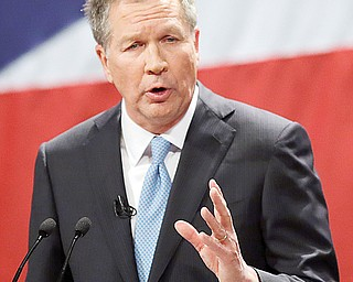 Gov. John Kasich delivers his State of the State address Monday at the Performing Arts Center in Medina.