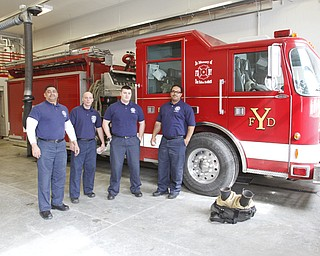 ROBERT K. YOSAY  | THE VINDICATOR..Staffing  Captain Perry Harrison- William Palma - Jeff Goodlet and Lt Chris Brown  and #9..YFD newest station on Midlothian- has two bays - living area - dorm area - bathrooms with showers - .