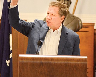 Gov. John Kasich, the keynote speaker Monday night at the Mahoning Valley McKinley Club's 99th annual banquet in Niles, spoke about how growing up with financial struggles made him the person he is today.