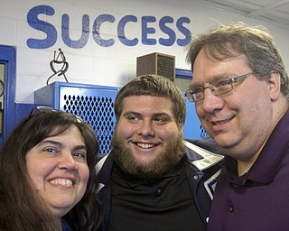 William d Lewis The Vindicator  Nick Nizzo, Poland HS senior and football player talks about issues he faces due to being bipolar. He is shown with his parents Joanna and Nick Rizzo.