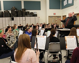 Robert Barnett, director of high-school bands, conducts a rehearsal of the band. The school district was named one of the Best Communities for Music Education by the Music Merchants Association Foundation in recognition of its commitment to music. It is one of 24 Ohio districts to make the list, and the only one in the tri-county area.