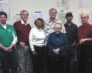 SPECIAL TO THE VINDICATOR Trumbull Mobile Meals golf committee is planning its annual Golf Outing for June 20 at Riverview Golf Course, 3903 state Route 82 SW, Newton Falls. Committee members, from left, are Bob Blaney, Ron Gordon, Gussie Reed, Dewayne Wells, Jean Schlecht, Willie Collins and Dick Lytle. For information about sponsorships and team organization, contact TMM at 330-394-2538.