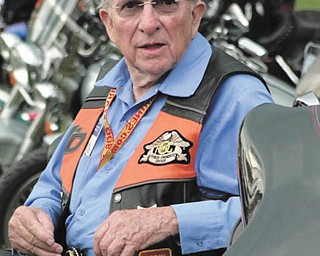 E. Bruce Heilman, 86, chancellor of the University of Richmond, Va., rode the lower part of the 48 states last year and the upper part the year before. This year he is planning a trip to Alaska. Taken by Chuck Cavanaugh.