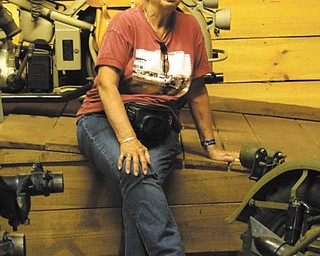 This photo of Dee Cavanaugh was taken at the museum, Wheels Through Time, in North Carolina. She lives in New Middletown. Taken by Chuck Cavanaugh.