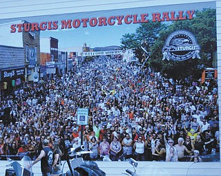 The Sturgis Motorcycle Rally at the real Hog Heaven in South Dakota. Taken by Chuck Cavanaugh.