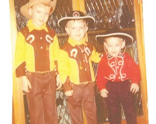 John Bortmas, 6, of Austintown; Gary Bortmas, 4, of Canton; and David Bortmas, 2, of Lake Milton; in 1971 they were Mom's cowboys! Submitted by Mom, Donna J. Hunt.