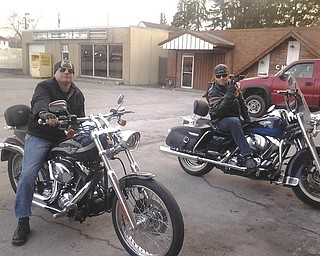 Two bikers are ready to roll on down the road. Submitted by M. Brown.