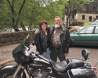 Willie Mills and his wife, Barb, are at McConnells Mill State Park in 2009, back when they were dating. Willie says the best times they've had together have been in the wind on his Harley. Willie says his wife is a real angel!