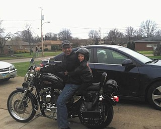 This is Juan Miranda and his granddaughter Alivia Miranda. They both love riding. Sent by daughter and mother Ashley.