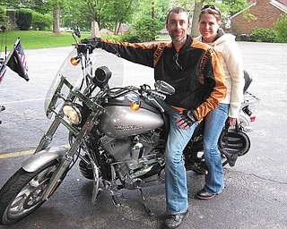 Dawn and CJ George at the Spread Eagle Tavern in Hanoverton, taken by Tony Moran.