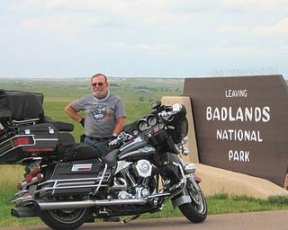 Tony Moran of Salem, taken at the Badlands of South Dakota.