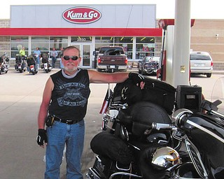 Pit stop for Tony Moran on the way to Sturgis.